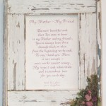 Fence Board frame with poem and wild roses