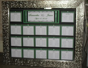 Seating Chart on Matboard & Mirror