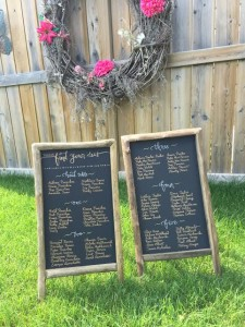 chalkboard easle two