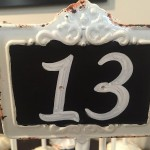 close up of table number